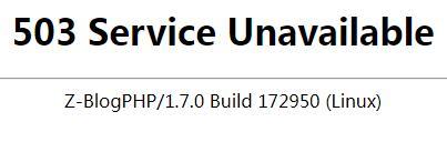 ip地址地域访问禁止,访问网站被提示503页面 第1张